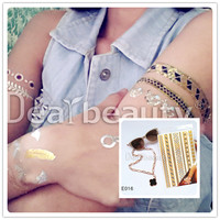 Lovely gold and silver foil temporary tattoos high quality factory direct tattoo