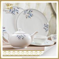 Porcelain hotel dinnerware, fine bone china ceramic hotel porcelain tableware