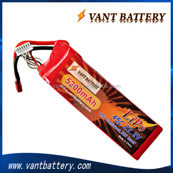22.2v rc lipo battery 5200mah 45C 6s packs soft case with high quality for helicopter/quadcopter