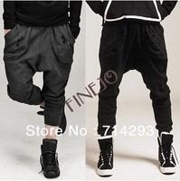 Men's Zipper Design Casual Sports Dance Trousers Baggy Jogging Harem Pants plus size 18121