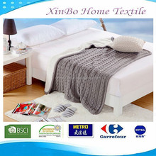 2015 New 100% Polyester Warm Comfortable Double Layer Cozy Sherpa Bedding Knitted Blanket