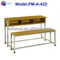 FM-A-422 Wholesale elementary school furniture desk and chair