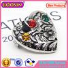 Fashion Pretty Customed Heart Shaped Brooch Silver Brooch #5890