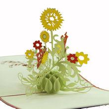 Gorgeous girasol 3D Pop UP de felicitación creativas de regalo de cumpleaños