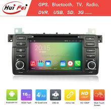 Huifei Quad Core Android 4.4 Capacitive car stereo for BMW E46 with mirror link,GPS,Radio function