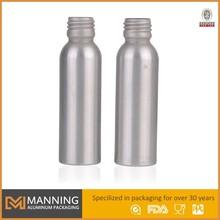 Empty Aluminum liquid laundry detergent bottles