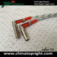 Diameter 6mm 12v 40w ceramic cartridge heater with right angle lead