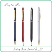 high quality metal slim twist cross ballpoint pen with custom logo for promotion