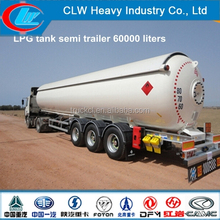 50cbm high capacity used lpg tank trailer, LPG gas tanks for sale