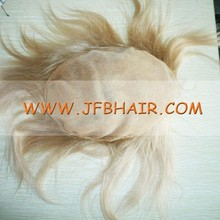 100% hand knotted new style virgin human hair men's toupee