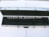 corrosion resisting waterproof aluminum gun case with safe lock and strong handle