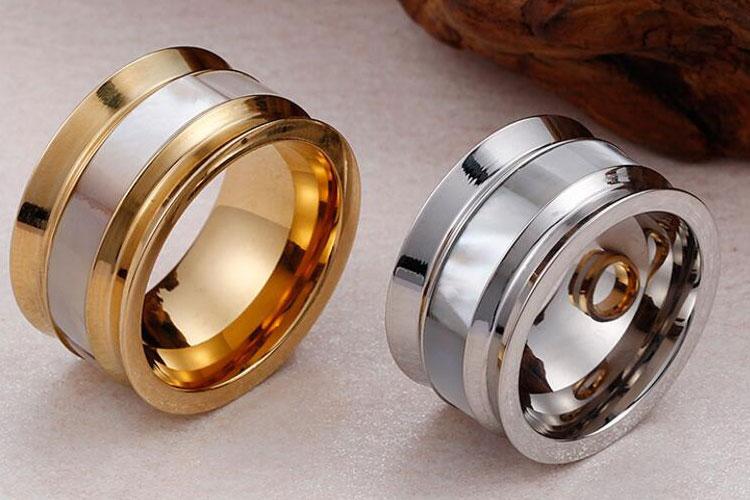 빈 쉘 18 천개 골드 도금 스테인레스 스틸 손가락 반지 디자인 가격