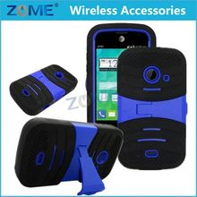 China Wholesale Pc+Silione Hybrid Stand Mobile Phone Case For Zte Prelude 2Z667