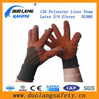 High Quality crinkle finish Automotive Latex coated gloves