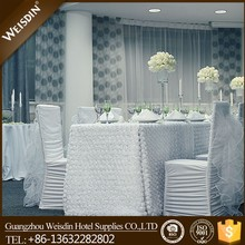 Guangzhou wholesale spandex/polyester wedding ruffle chair cover and chiffon sashes for sale
