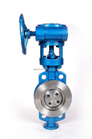 D373H - Heavy Duty Wafer type metal seated butterfly valve Gear Wheel Operator