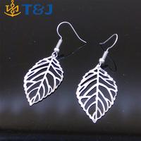 Wholesale Vintage Leaf Earring New Design Bohemian Dangle Drop Earrings Charm Gold Silver Jewelry For Women Girls/