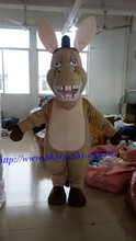 2015 Cartoon deluxe donkey Mascot Costume for Sale