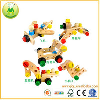 Wooden Nuts And Bolts Kit 30 Pieces Kids Changeable Wooden Assembling Toys