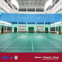 Standard antiskid badminton court size