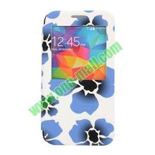 Special Design Blue Flow Images Flip Cover for Samsung Galaxy S5