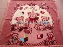 new design Children Cartoon fleece Blanket/knitted coral fleece blanket