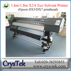 1.6m small eco-solvent ink indoor outdoor digital printer from CrysTek