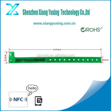 OEM programmable rfid tag , PVC disposable rfid wristbands