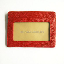 Super Thin Fashion Card Holder Compact Wallet With ID Card Window
