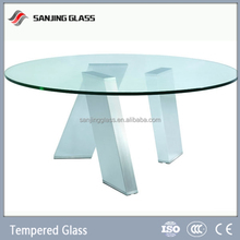 Laminated glass for green glass dining table