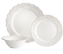 embossed durable dolomite dinnerware sets