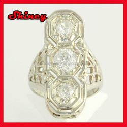 Wholesale fashion 925 sterling silver ring with big stone