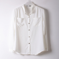 Latest designs wholesale cotton long sleeves blank shirt for women 1361