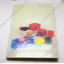 Sample International Universal Glass Seed Beads & Bugle Beads Color Chart(AJEW-A011-01)