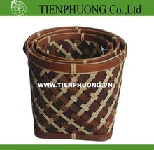 Bamboo product with net, bamboo handicraft basket