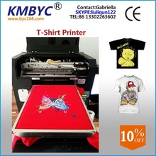Best !!! High quality printing direct to garment printer 8 color to print various color RIP software for free