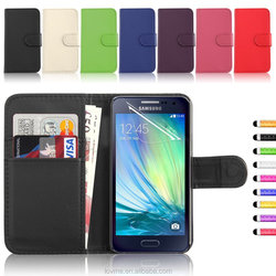 Wallet Flip Pu Leather Case Cover For Samsung Galaxy A3 Free Screen protector Style Pen