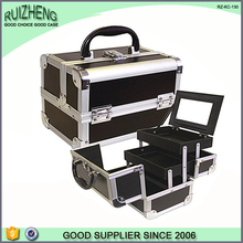Leather suitcase make up vanity case