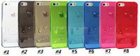 High Quality Melting Ice Cream Colorful 3D Design Soft TPU Transparent Case Back Cover For iPhone 4 4S