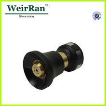 (21805) garden big volume adjustable plastic ultimate hose vee jet brass full cone jet spray nozzle tip