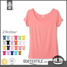 softextile 2016 Screenprinting t-shirts wholoesale cotton modal new style of t-shirt stock for available