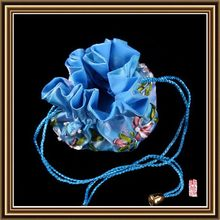 Bottom price most popular silk jewelry bags for show