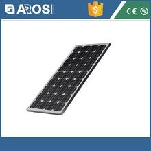 2015 Hot sales Arosi 2015 12v 80W monocrystalline Silicon solar panel / 12v 70w panel solar price