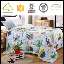 Summer cool catoon embroidery microfiber quilts