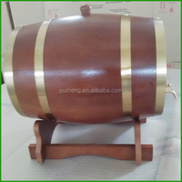 10L Dark Brown Oak Wooden Wine Barrels,Whiskey Barrel for Sale