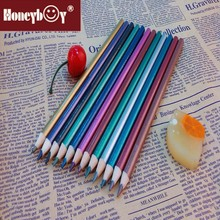 2015 High quality round fluorescent sharpened colored pencil