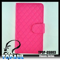 cross stitch handy flip phone case for iphone 5c with magnet strap