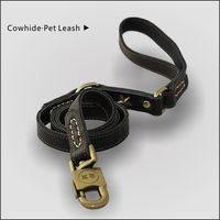 Floral design Double leather artificial suture The dog leash Double-sided leather of first layer
