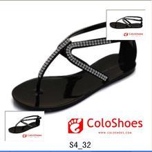 casual lady flat sandals slippers ladies high heel platform sandals