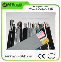 Flexible PVC Flat/Round elevator cable for cctv camera Russia Hotselling